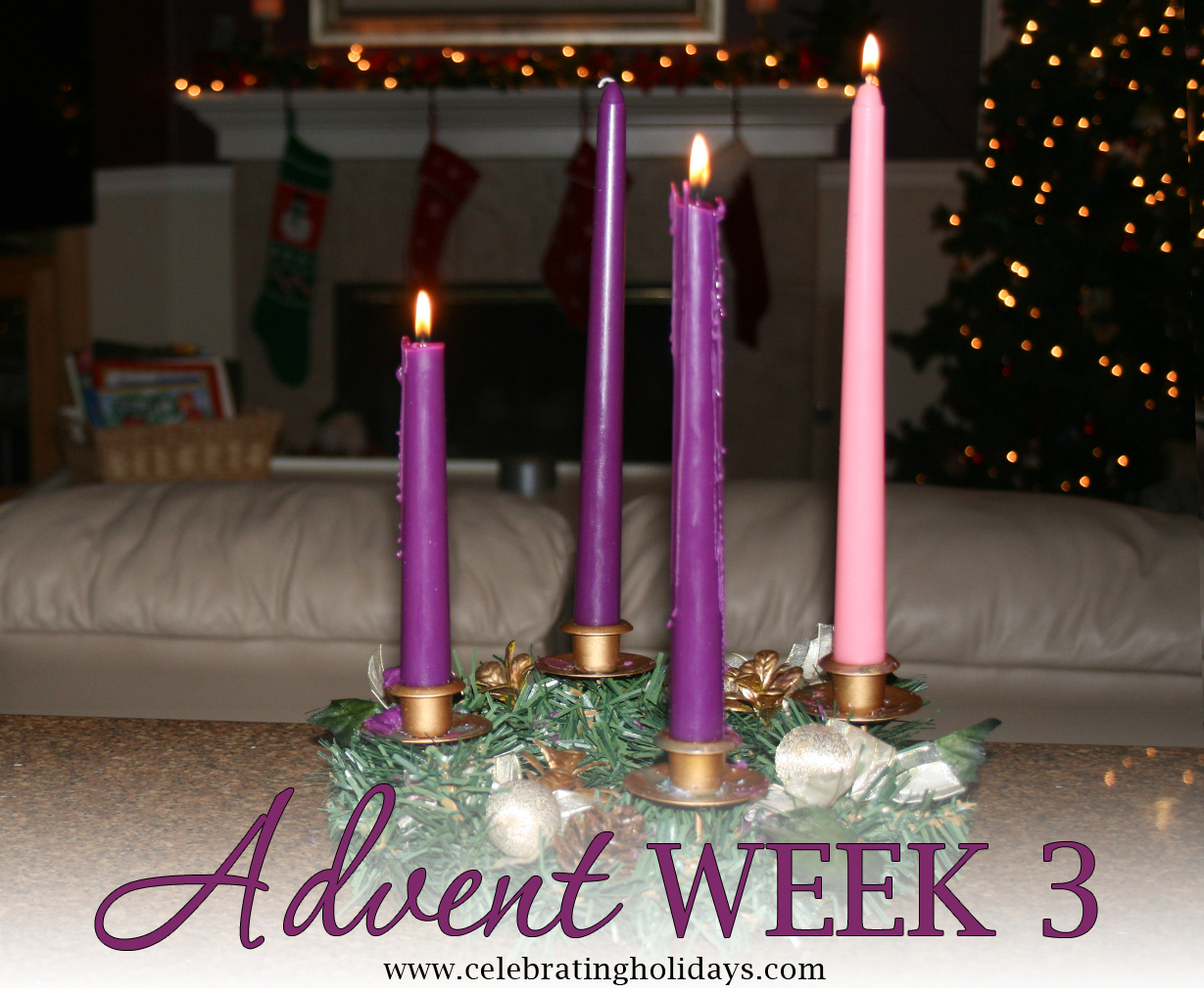Advent Week 3 Reading, Music, and Candle Lighting