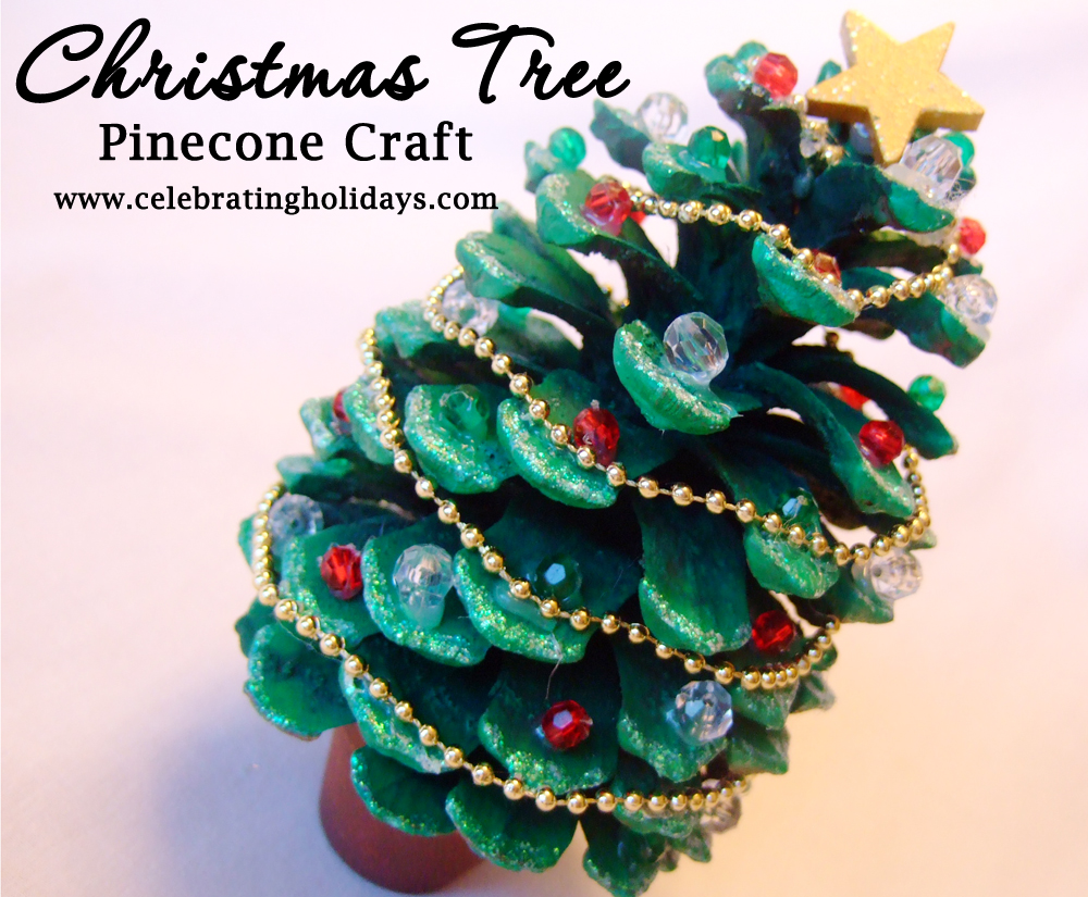pinecone christmas crafts pinecone tree craft celebrating holidays 2683