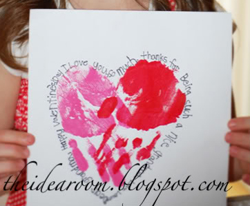 Handprint Heart Art