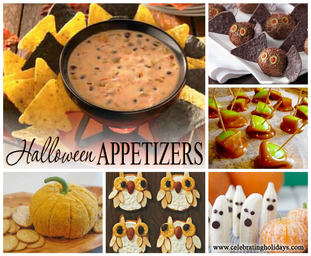 Halloween Appetizer Recipe Ideas  Celebrating Holidays