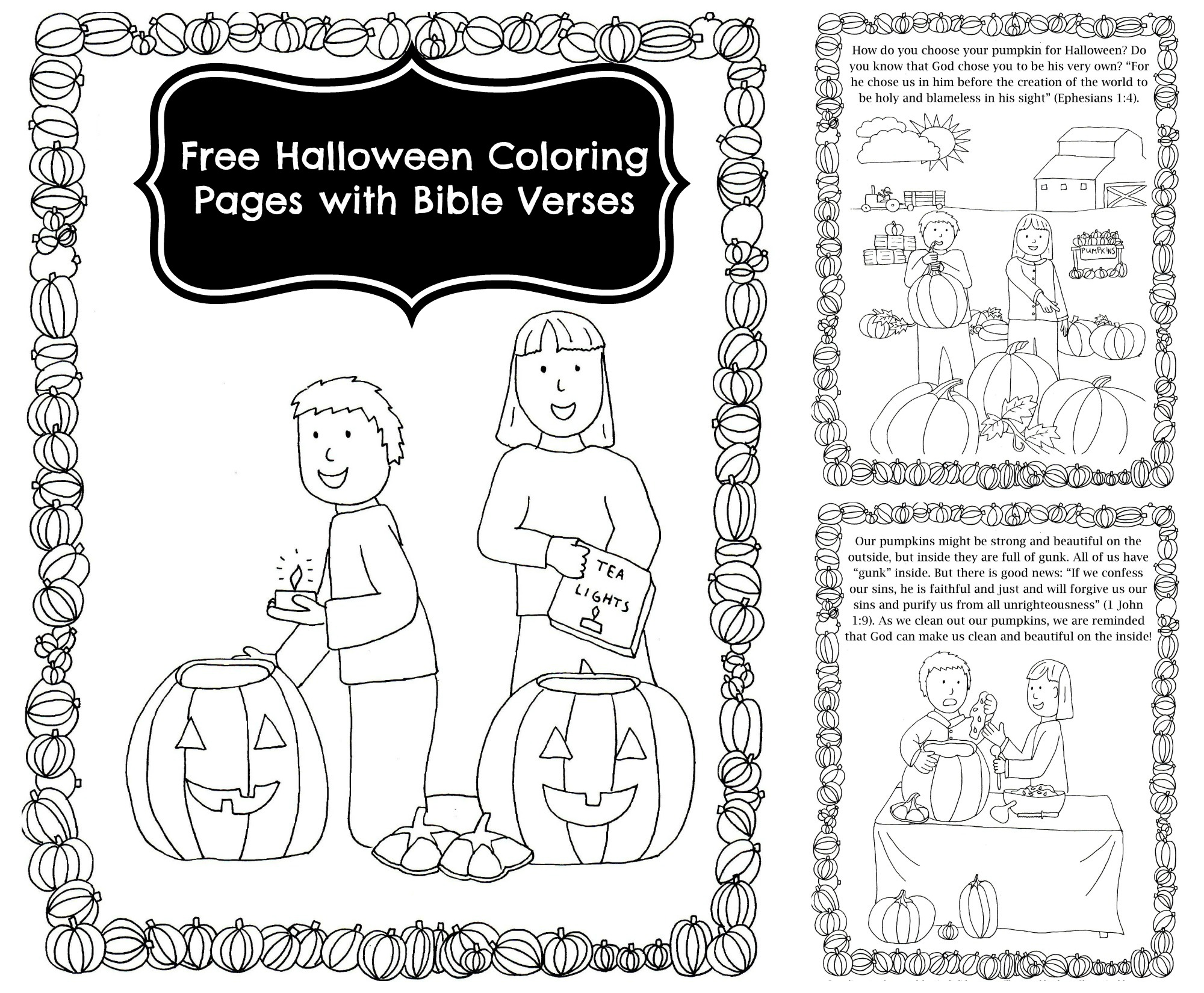 Free Pumpkin Story Coloring Book with Bible Verses ...