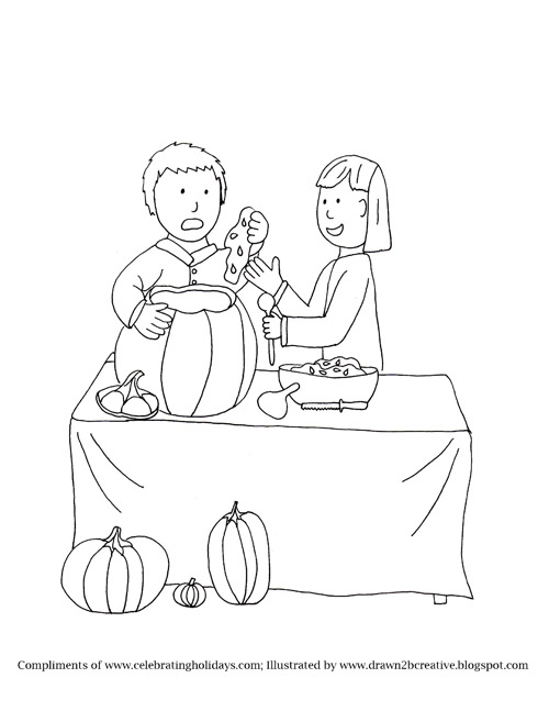 Pumpkin Carving Coloring Pages With Bible Verses For Halloween Celebrating Holidays