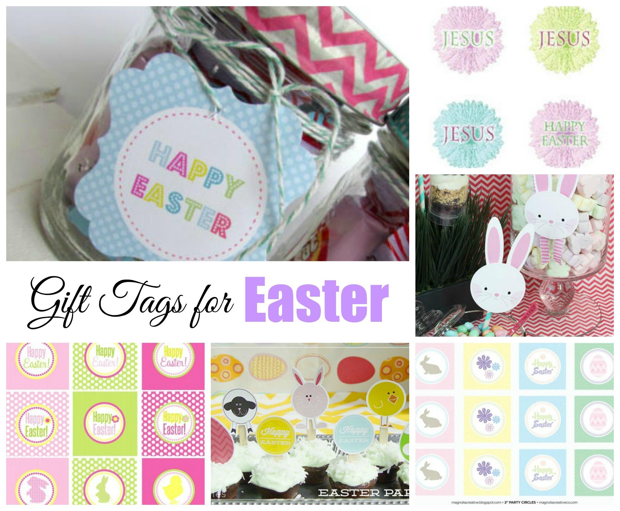 Easter Free Printable Gift Tags Celebrating Holidays