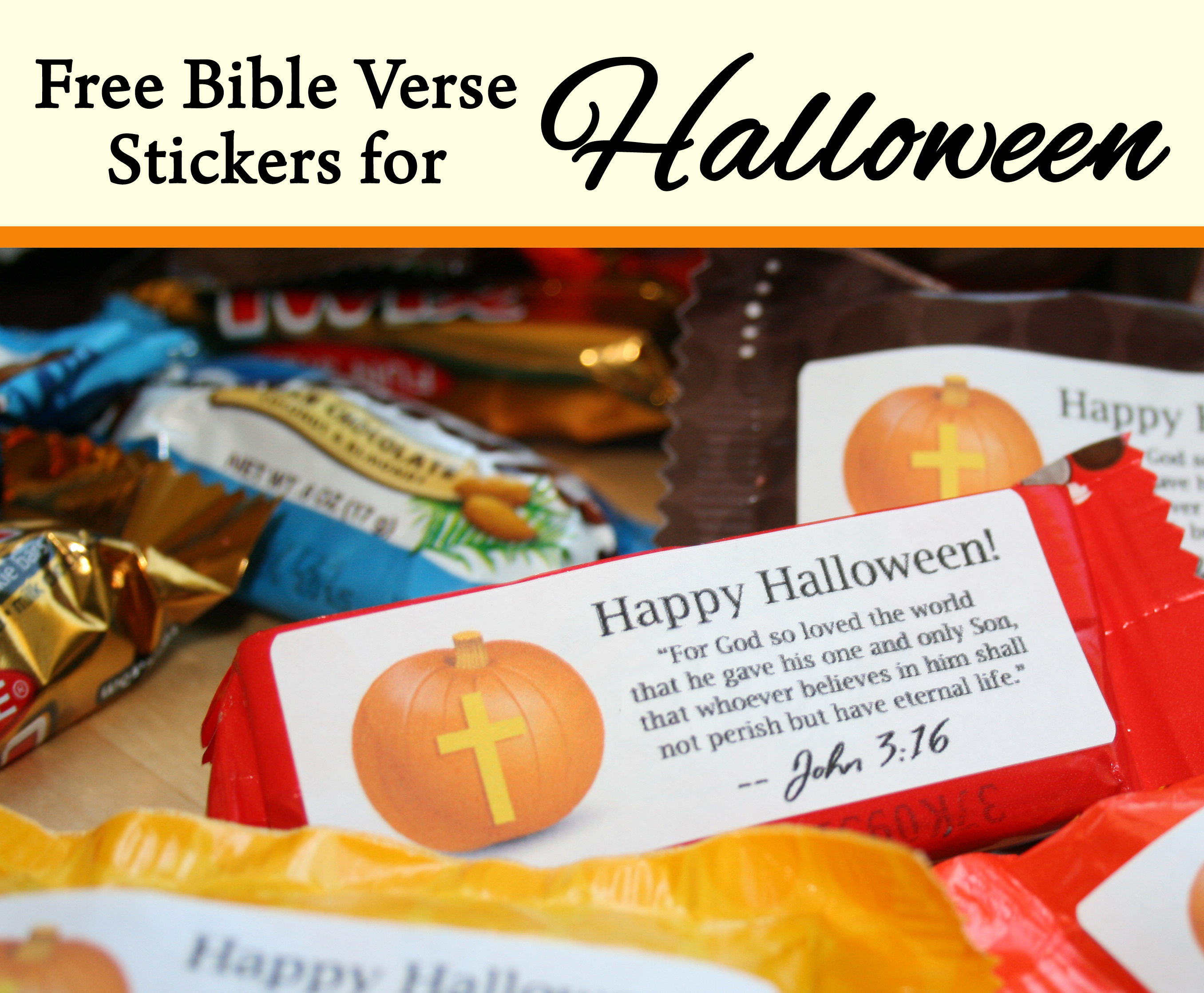Free Bible Verse Candy Labels For Halloween Celebrating